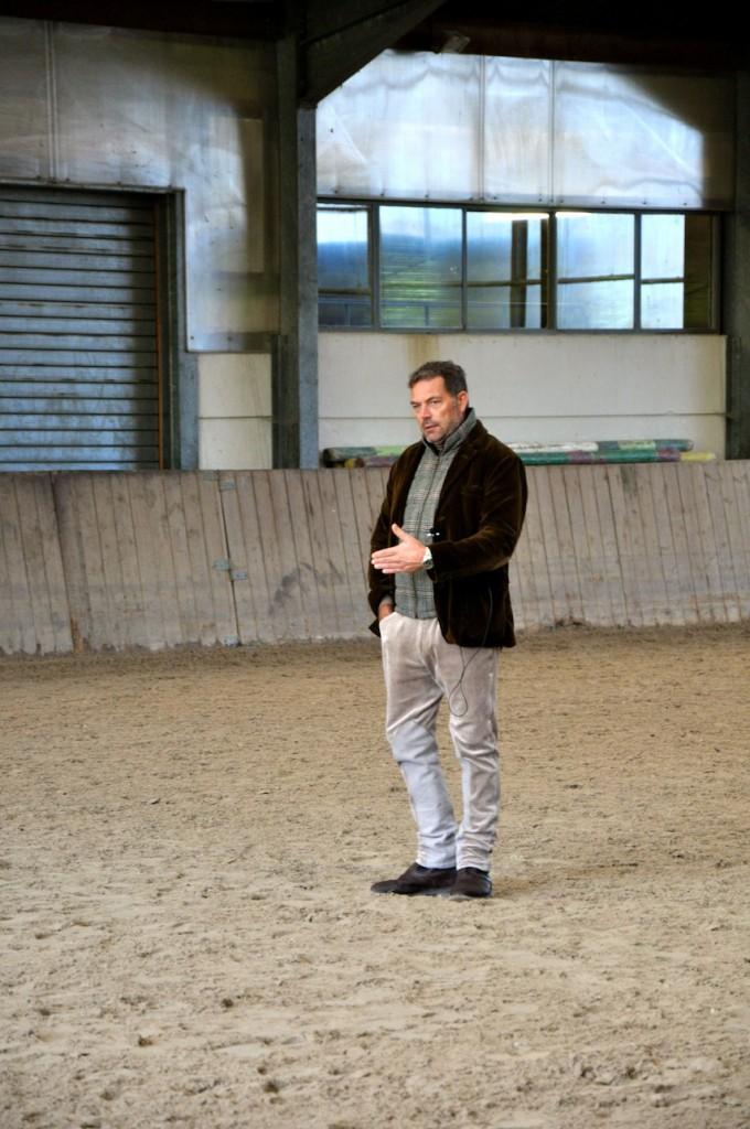 David de Wispelaer im Unterricht bei uns.