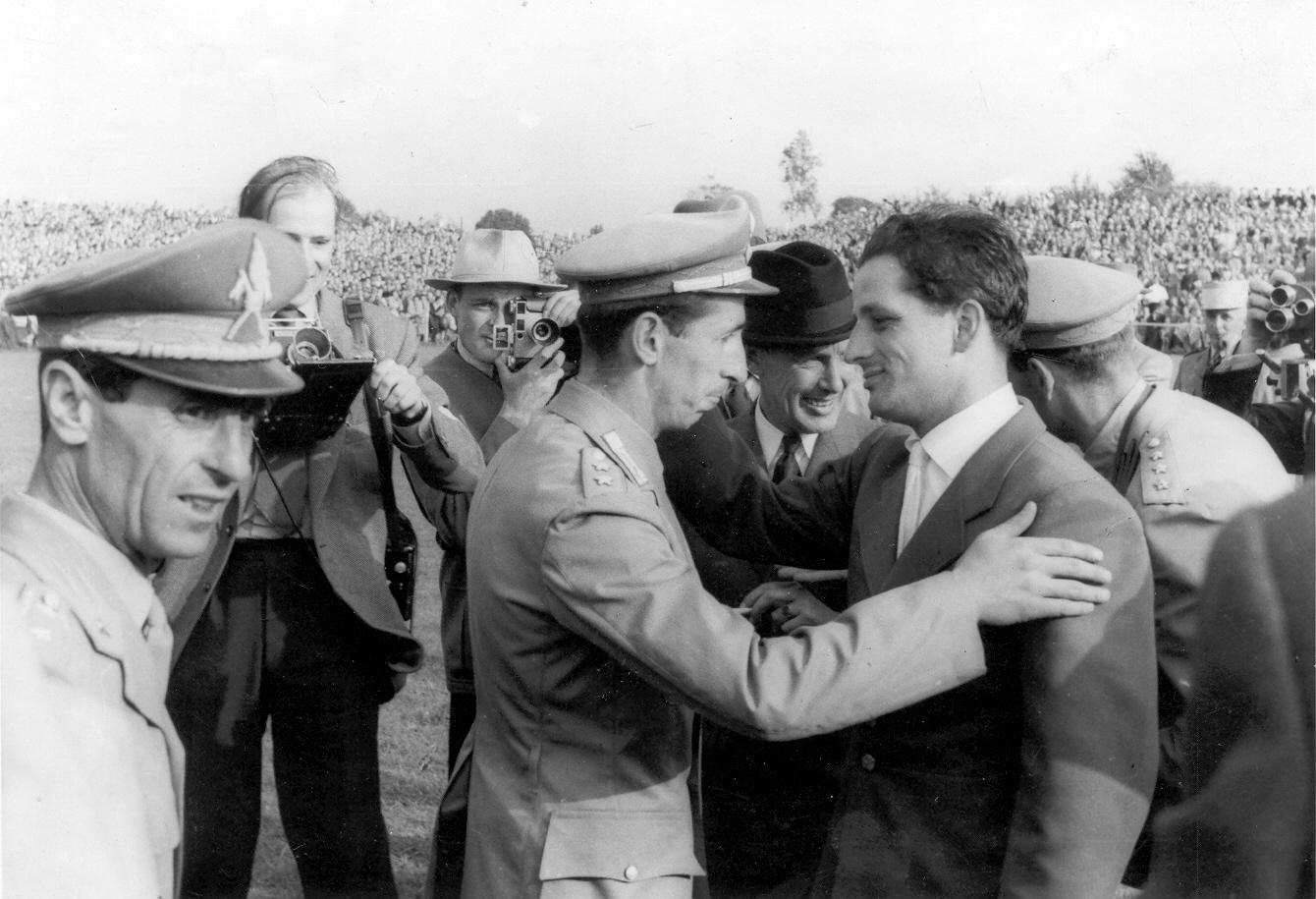 Gratulation Winkler D'Inzeo WM 1955