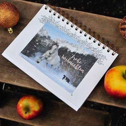 Eine von 6 Weihnachtskarten die zustzlich im ADVENTSKALENDER FR PFERDEMENSCHENhellip