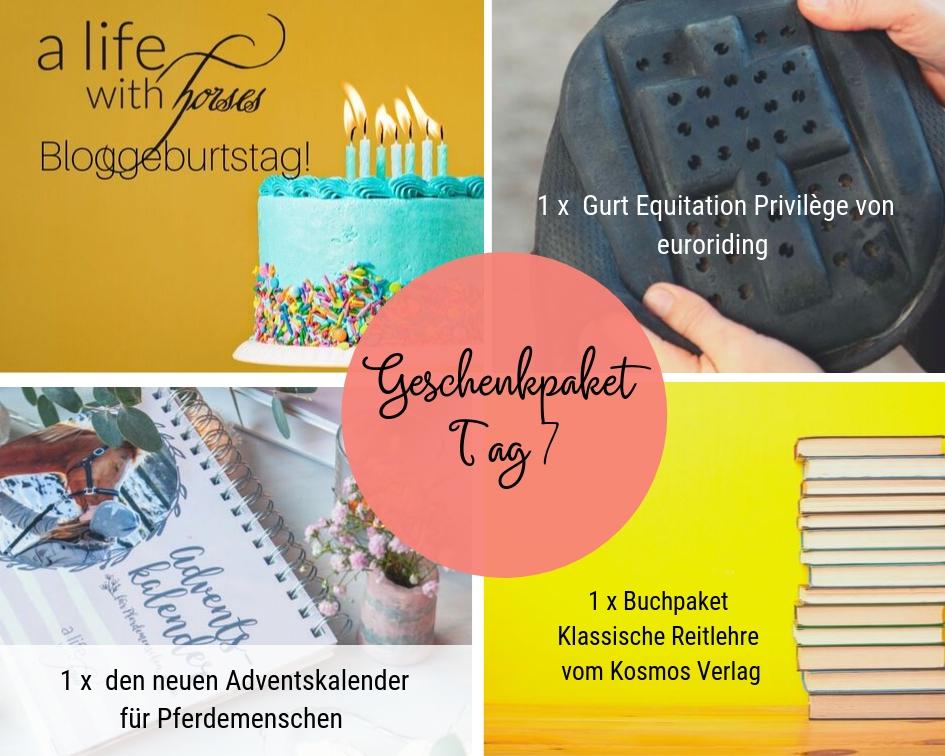 Bloggeburtstag Geschenke Sattelgurt, Kalender, Bücher