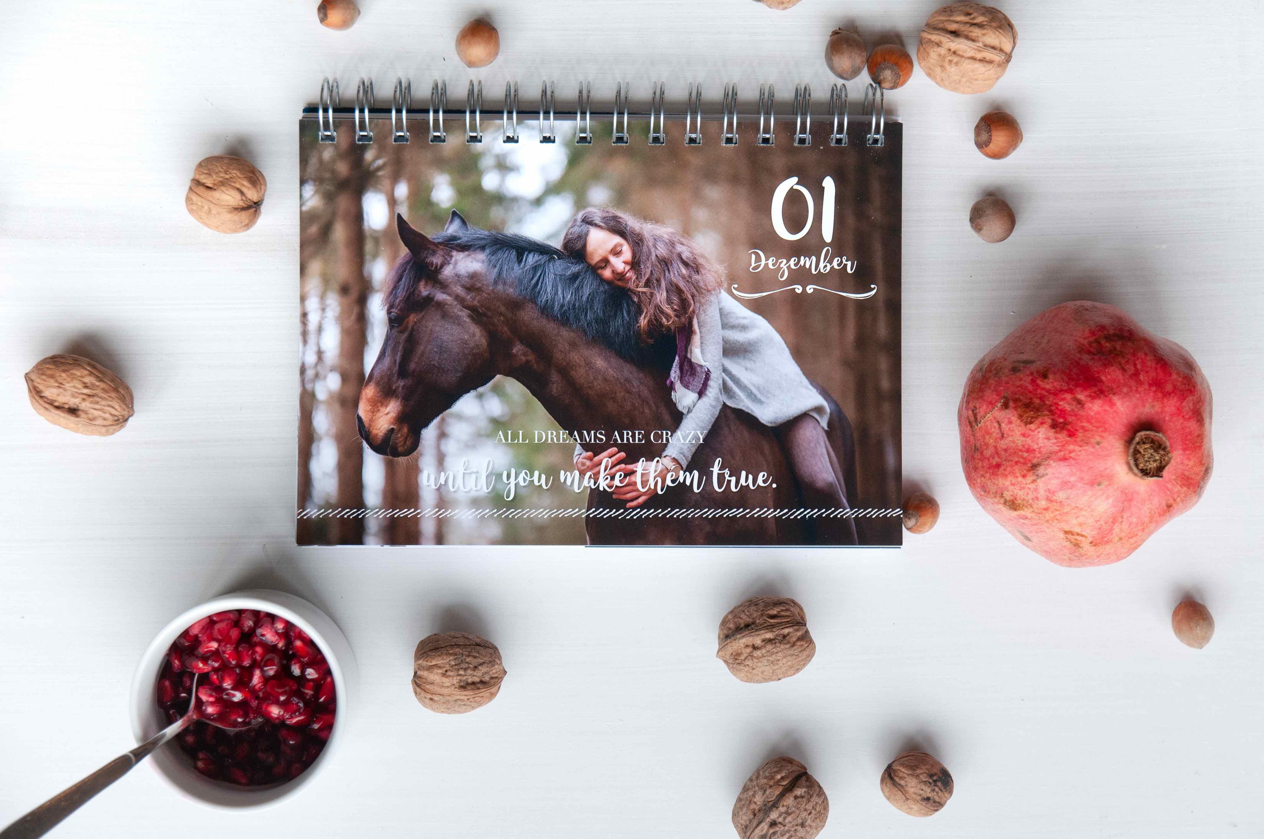 Lisa Röckener auf Valoo im Adventskalender für Pferdemenschen. Kalenderfoto: Julia Roßner. Foto: Klara Freitag